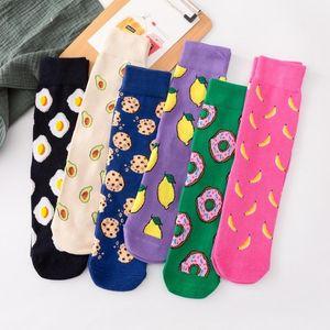 Egg   Pizza   Sushi Harajuku Cartoon Socks Japanese Yellow Hip Hop Socks Funny Creative Man Unisex1