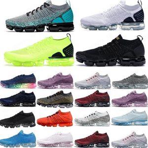 Sıcak 2018 2019 Chaussures MOC 2 Laceless 2.0 Koşu Ayakkabıları Üçlü Siyah Erkek Kadın Sneakers Yastık Trainers Zapatos