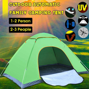 2-3 Outdoor Waterproof Hiking Camping Tent Anti-UV Portable Tourist Tent Ultralight Folding Tent Up Automatic Open Sun Shade Z1123