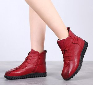 2020 New Cotton-padded Flat Bottom Increase Soft Sole Shoes Woman Winter Warm Boots Women Boots