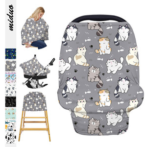 Nursing Cover Infinity scarves Multifunctional Scrafs Nursing Shipping Cart Carseat High Chair Cover Cartoon Style Cotton Winter Scarf