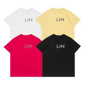 Europa primavera verão frança paris clássico 3d sólido cópia reflexiva tshirt fashion homens mulheres manga curta camiseta casual streetwear tee
