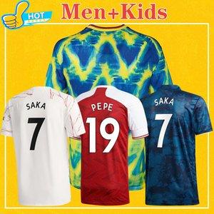 Gunners Soccer Jersey Arsenal 2020 2021 Arsen PEPE SAKA TIERNEY NICOLAS CEBALLOS GUENDOUZI 20 21 Maillot de foot 4XL Hommes + Enfants Kit