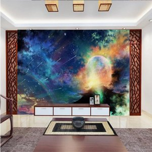 3d stereoscopic wallpaper Starry meteor shower TV background wall 3d murals wallpaper for living room