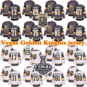 Vegas Golden Knights Jersey 29 Marc Andre Fleury 61 Mark Stone 75 Ryan Reais 71 William Karlsson 81 Jonathan Marchessault Hockey Jerseys