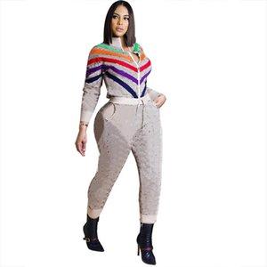 women designer tracksuit long sleeve pantsuit outfits 2 piece set sportsuit cardigan + legging women clothes jogger sport suit klw5771