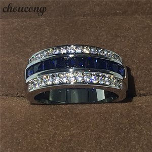 Eternity Fashion Jewelry Male ring stone 5A Zircon Cz white gold filled Party Engagement Wedding Band Ring for Men
