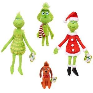4pcs Lot Grinch Plush Toys 18-32cm Grinch Toys Christmas Grinch Max Dog Plush Doll Toy Soft Stuffed Toys for Kids Birthday Gifts Y1125