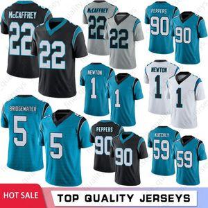 22 Christian McCaffrey Men Jerseys Jerseys 59 Luke Kuechly 1 Cam Newton 90 Julius Peppers 5 Simmons Bridgewater Vendita calda S-XXXL