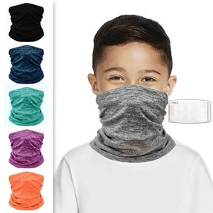 1Pc Kids Children Solid Color Headwear Scarf Outdoor Cycling Windproof Anti-Dust Warm Face Cover Multi-functional Bandana