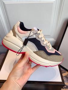 Rhyton Mens Shoes Homens Mulheres Mulheres Ao Ar Livre 620185 99WF0 4371 Sapatilhas vintage Luxo sapatos casuais moda designers sapato vintage Chaussures