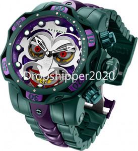 Reloj invicto DC Comics Joker Mens Cuarzo 52.5mm Acero inoxidable - Modelo 30124 Calendario Relojes de cronógrafo impermeable