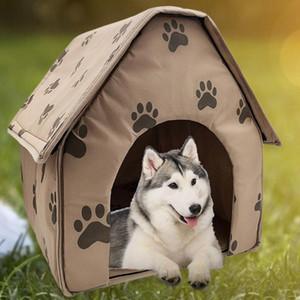 Sıcak Satış Köpek Evi Narin Tasarım Katlanabilir Köpek Evi Küçük Footprint Pet Yatak Çadır Kedi Kulübesi Seyahat Köpek Aksesuar