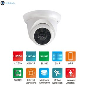 Indoor 5MP POE ir dome plastic night vision device network video surveillance 5mp IP camera support HIKVISION dahua NVR