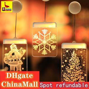 LED Santa Claus Luminous Snow Bell Snowman Christmas Tree Romantic Girl Five-pointed Star Alec Decoration Pendant