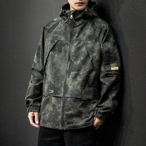 2020 Autumn & Winter New Style Japanese-Style Large Size Camouflage Hooded Jacket Loose Versatile Casual Jacket