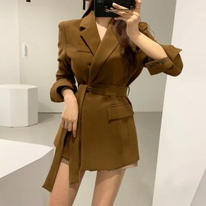 Women's jacket small suit feminine 2020 Korean version of the new elegant ladies mid-length blazer High quality fashion coat