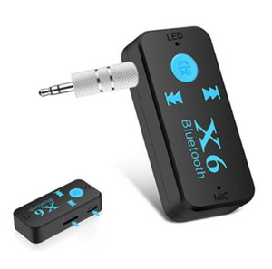 X6 Receiver Bluetooth 5.0 Support TF Card Mode With 3.5 AUX Audio Adapter Wireless Car Kit Stereo Music For Headphones