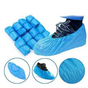 Plastic Waterproof Disposable Shoe Cover Blue Cleaning Rain Day Carpet Floor Protector Overshoes Outdoor Cycling Shoe Cover DDA830