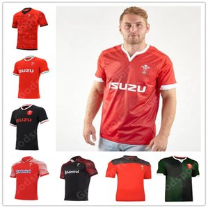 2021 Rugby Coupe du Monde Jersey Galles Jersey Jersey Gallois Polo T-shirt Rugby Jersey Shirt Chemise Rouge Hommes Chemises Chaude Vente Sport 2020