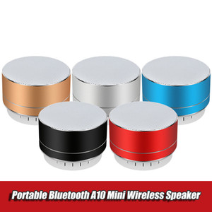 Rechargeable Portable Bluetooth Speaker Mini A10 Wireless Steel Cannon Subwoofer Music TF USB AUX Stereo Sound Audio Music Player