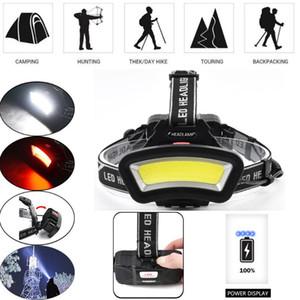 LED USB Rechargeable Headlamp Headlight Fishing Torch Headlight 2x18650 lithium battery LED Lights Bike