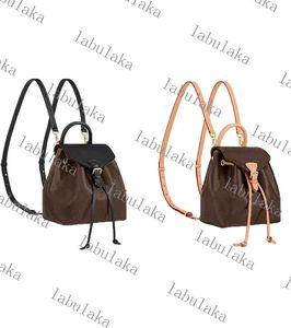 M45516 M45502 Montsouris PM Élégantes Femmes Véritable Cowhide Cuir Emobs Toile Boucle Sac à dos Sac à bandoulière sac à dos Sac à main