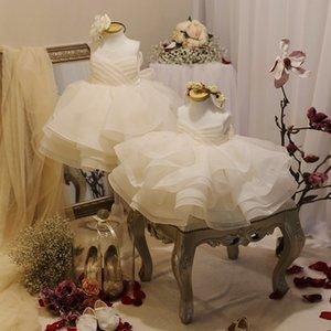 Flower Baby Girl Vestidos Navidad para bodas y Party Princess Dress Girl 2020 Nuevo Vestidos de alta calidad Daminha F1203