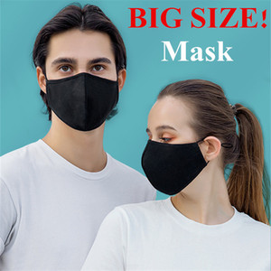 Wholesale Big Size Cycling Mask Cotton Washable Unisex Cover Mask PM2.5 Filter with Adjustable Earloop Reuseable Masks FY0118