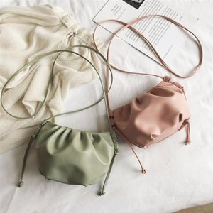 Handbag Women Pleated Cloud Shape Versatile Interior Zipper Pocket Hand Bag Luxurys Designers Small Size Bag 5 Colors SEA GWC5360