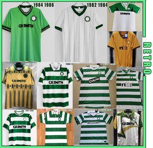 Celtic 82 84 86 88 89 91 92 94 96 98 00 Jerseys de football rétro 94/96 Larsson Nakamura Johnson Classic Vintage Celtic Football Sports Shirts