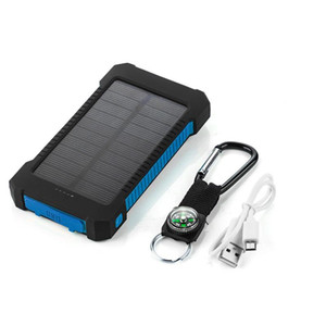 waterproof solar power bank 30000mah universal battery charger with Compass LED flashlight and Camping lamp for outdoor