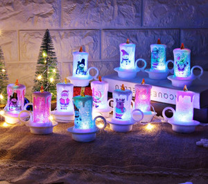Christmas LED Candle PVC Night Lights Portable Flameless Candle Table Decoration Merry Christmas Candle Desktop Decoration SN3544