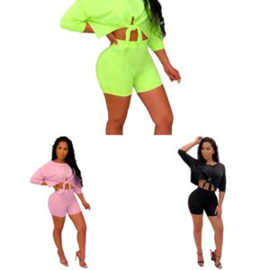 JZX Halter Two Pie Prom Dress la Frauen Sommer Hohlvertreibendresse Ärmellose Slim Shorts Sets Tops High Sexy Kleid Sets Taille Split