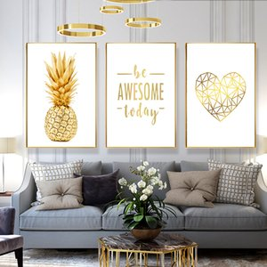 Canvas Wall Art for living room Prints kitchen wall Artwork Home Decor pineapple watercolor painting framed bedroom Decorations Pictures