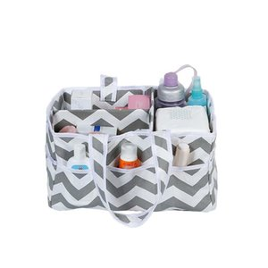 Baby Diaper Striped Storage Bag Organizer Portable Holder Bag Nappy Storage Basket Car Nursery Essentials Bins