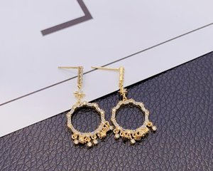 2020 new European and American style luxury ring short tassel earrings dinner dress accessories 379