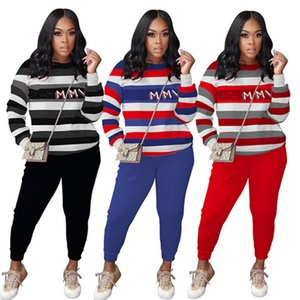 Women Two Pieces Outfits Long Sleeve Top Trousers Ladies New Fashion Pants Set Sportswear Tracksuits New Type Hot Selling klw5734