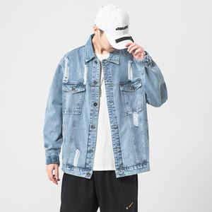 Denim Breeze Herrenschwarze Jacke Frühling 2020 Mode Kleidung plus Größe Übergröße M-5XL HI3C