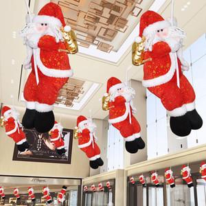 Pencere Alışveriş Merkezi Yeni Yıl Partisi Diy İçin Çevre Dostu 35cm Peluş Noel Süsleri Noel Baba Doll Tırmanma Halat Süsler