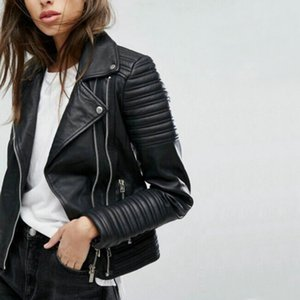 2021 Autumn Winter Biker Streetwear Black Pink Coat New Fashion Women Soft Motorcycle Faux Leather Jackets Ladies Long Sleeve
