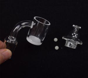 DHL Quartz Banger & Carb Cap set 25mm Quartz Nail 10mm 14mm 18mm Male Female Flat Top Banger for Dab Rigs Glass Bongs