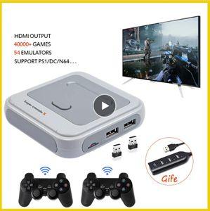 Retro mini TV / video console per PS1 / N64 / DC con 50 emulatori con 41000 giochi supportano HDMI con Gamepad wireless