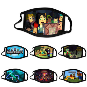 Minecraft Designer Custom Face Mask Masque Decorations Game Masks Kid adulto cotone riutilizzabile maschera lavabile