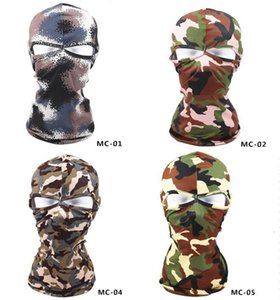 Outdoor Wholesale Camouflage Balaclava bike Cycling Ski Neck Masks Hoods Paintball Hats Motorcycle Tactical Full Face ma 1 NBLNR