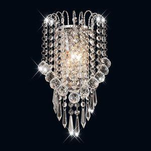 Luces LED E14 Modern Kristal Ayna Paslanmaz Çelik Duvar Işıkları Lambalar Aplik Armatürleri Hallway Başucu Oturma Odası Için Işıklar