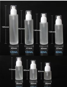 20ml 30ml 40ml 60ml 80ml 100ml 120ml Frosted Glass Cosmetic Lotion Pump Bottle Refillable Liquid Perfume Spray jllHuu yummy_shop