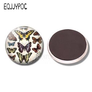 Güzel Kelebek 30mm Buzdolabı Magnet Cam Manyetik Buzdolabı Mıknatıs Böcek Çıkartmalar Not Buzdolabı Memo Güzel Ev Dekorasyonu Wmtjvz
