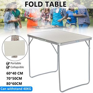 60x40cm 70x50cm 80x60cm Portable Foldable Camping Outdoor Furniture Computer Bed Table Picnic Aluminum Alloy Folding Desk Q1130