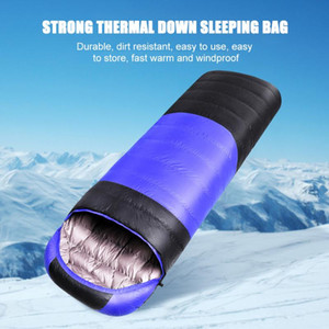 Outdoor Camping Sleeping Bag Waterproof Adults Unisex Winter Windproof Warm Down Sleeping Pouch Blanket for Backpacking Travel